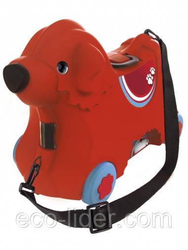 """Каталка для малыша """"Путешествие"""" с отделением для вещей, красная, 3+"""