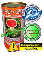 Арбуз АЛЬЯНС (Ukraine), среднеспелый, проф. семена, банка 500 грамм,обработанные Metalaxyl-M , фото 1