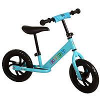 Беговел детский 12 дюймов колёса Голубой Profi Kids (M 3143-2)