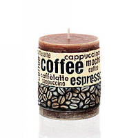 Свеча колонна 70x90 мм Время кофе