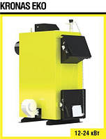 Твердотопливный котел Kronas Eco 12 кВт c автоматикой и вентилятором