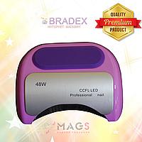 Ультрафиолетовая LED+CCFL гибридная лампа 48 Вт, для гель лаков и геля