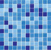 Мозаика стеклянная голубая GLmix2