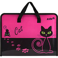 Папка-портфель А4 KITE Black Cat K17-202-1-1307