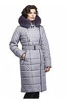Зимнее  женское пальто с капюшоном Лия