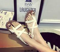 Женские летние сандали вьетнамки белые