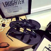 Женские летние сандали вьетнамки черные