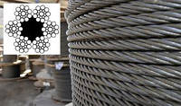 Канат (трос) стальной диаметр 30,5 мм ГОСТ  3077-80 от ГОСТ МЕТАЛЛ