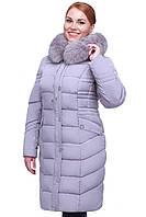 Зимнее женское пальто Дайкири короткая,мех песец
