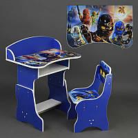 Парта, стул ЛДСП Ниндзяго NJ цвет синий (П 083)