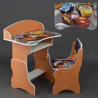 Парта, стул ЛДСП Тачки цвет оранжевый (П 084)