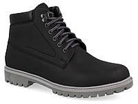 """Мужские кожаные ботинки """"Форестер"""" чёрные, фото 1"""