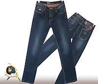 Мужские классические джинсы тёмно-синего цвета Molake коттон
