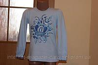 Блуза для девочки Гжель. Вышивка. Трикотаж