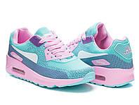 Легендарные модные женские кроссовки Nike Air Max 90 Найк Аир Макс, голубые копия Rapter