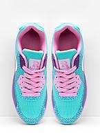 324c4d3d Стильные женские бирюзовые кроссовки Nike Air Max 90 Найк Аир Макс 90,  копия 38