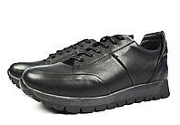 Черные мужские кожаные туфли комфорт VLAD XL