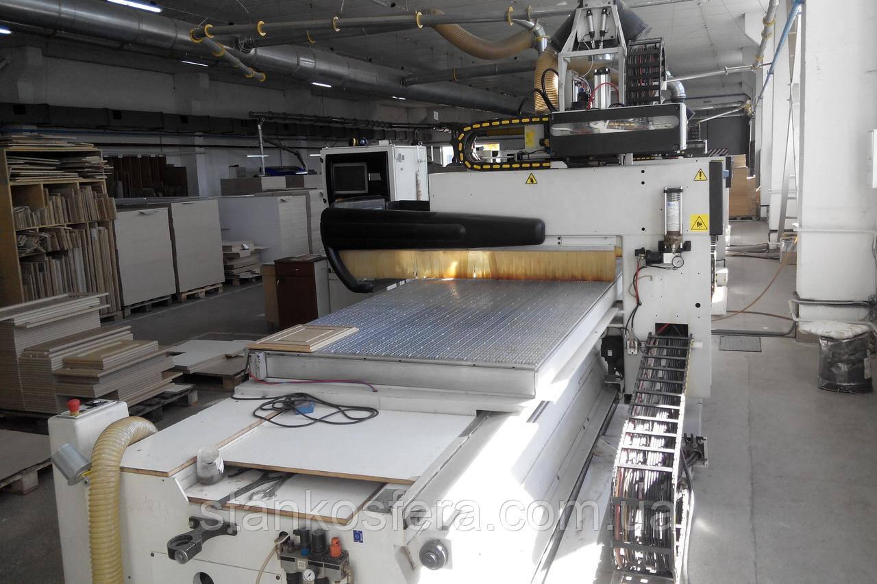 Обрабатывающий центр Morbidelli Author 430 с ЧПУ бу для деталей мебели и фасадов, 04/06г.