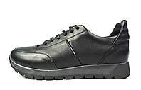 Черные мужские кожаные кроссовки комфорт VLAD XL, фото 1