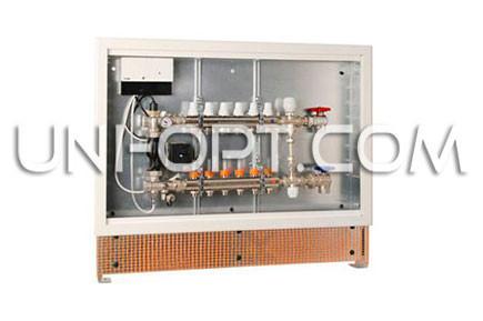 Коллекторный шкаф встроенный для теплого пола на 8-10 выходов