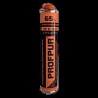 Пена монтажна  Profpur mega 870 мл.65 л