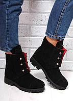 Женские осенние ботинки Hermès, натуральный замш
