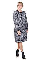 Вязаное платье  Lotos черный/молочный (46-48)