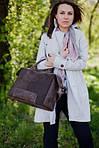 Кожаная сумка VS60  black 32х25х18 см, фото 7