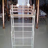 Этажерка высокая бежевая 47 см прованс белая