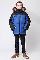 Зимняя куртка для мальчика ЗКМ-3 электрик, фото 1