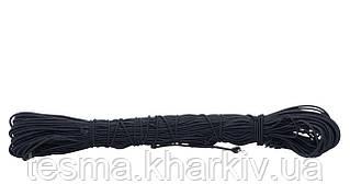 Шнур эластичный 3 мм чёрный