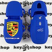 Чехол (силиконовый) для авто ключа Porsche (Порше) 3 кнопки