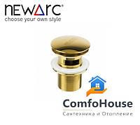 Донный клапан Newarc 740773G золото