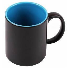 """Чашка магічна """"Хамелеон"""" колір чорний синя всередині"""
