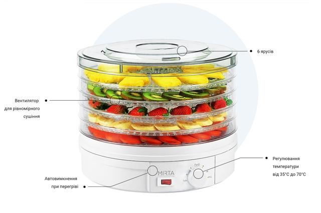 Сушка для фруктов Mirta DH-3846