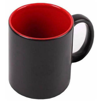 """Чашка магічна """"Хамелеон"""" колір чорний червона всередині"""