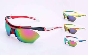 Велоочки солнцезащитные MC5270 (пластик, акрил, цвета в ассортименте)
