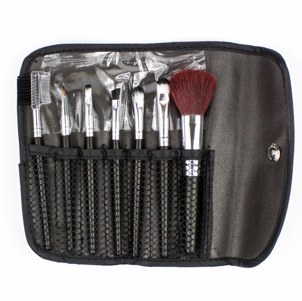 Набор из 7 кистей для макияжа в черном чехле Beauties Factory Makeup Brushes - Black Holder