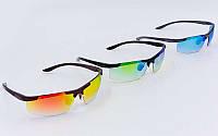 Очки спортивные солнцезащитные 3260 (пластик, акрил, цвета в ассортименте)