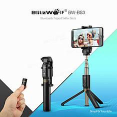 Селфи-стик, монопод Blitzwolf BW-BS3 с Bluetooth управлением