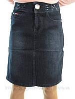 Джинсовая юбка на флисе, фото 1