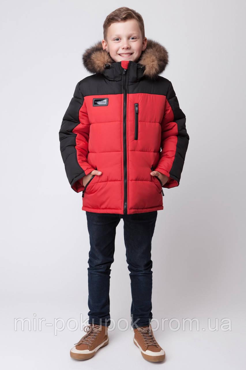 Зимняя куртка для мальчика ЗКМ-3 красный, фото 1