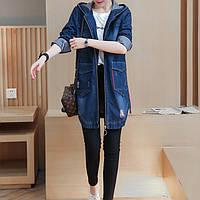Женская джинсовая куртка с капюшоном РМ7609