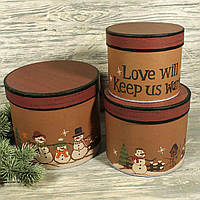 Новогодняя подарочная коробка 7723854-4 (комплект 2 шт)