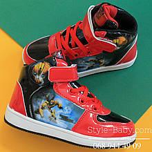Демисезонные ботинки для мальчиков Disney Трансформеры р. 25,29