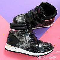 Демисезонные лаковые кроссовки для девочки тм tomm р. 33,34,37