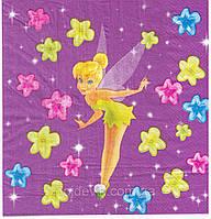 Сервировочные салфетки бумажные фея Динь Динь