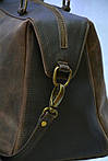 Кожаная сумка VS60 brown 32х25х18 см, фото 3