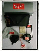 Очки Aviator Ray Ban Солнцезащитные. качественная оправа полный набор