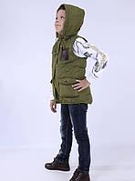 Жилетка для мальчика, демисезонная, утеплена тинсулейтом. BSST. 987QH_olive